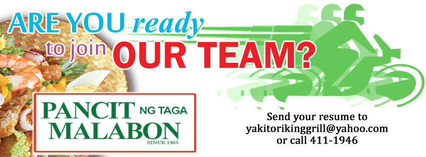 Pancit ng Taga Malabon is now hiring!