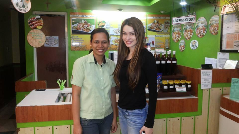 Ms. Daiana Menezes visits Pancit ng Taga Malabon